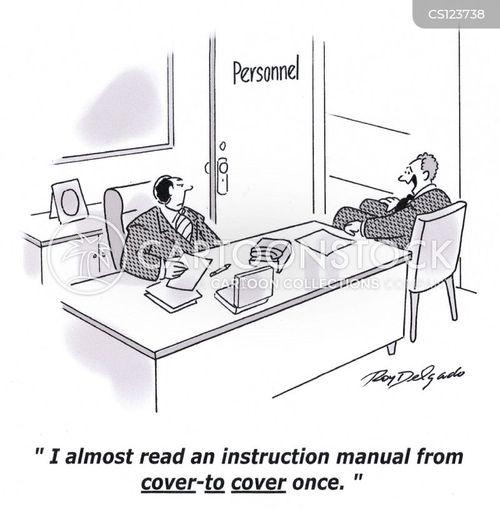 instruction manuals cartoon
