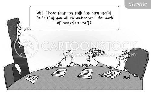 training seminar cartoon