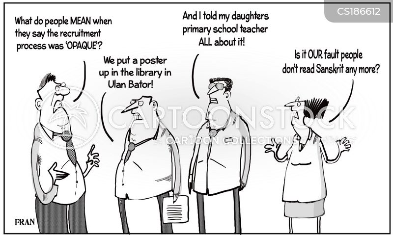 recruitment process cartoon