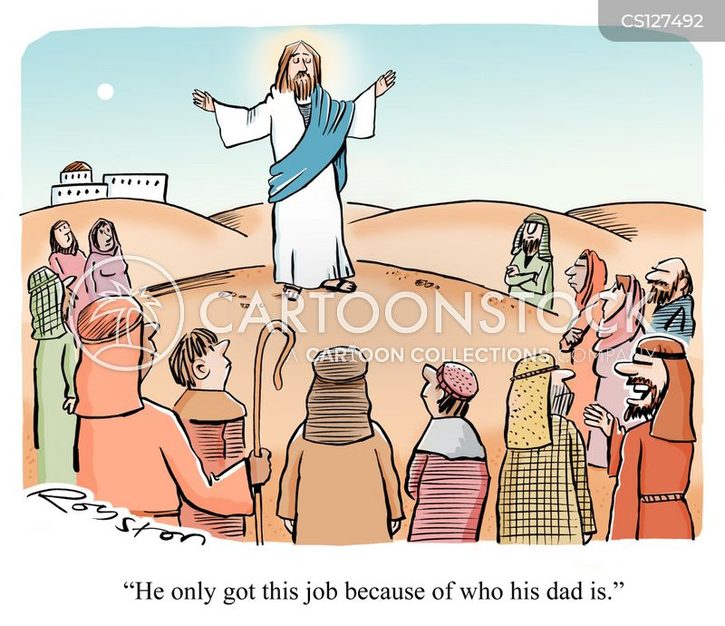 sermon on the mount cartoon