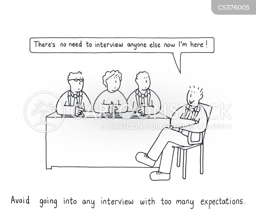 over-confident cartoon