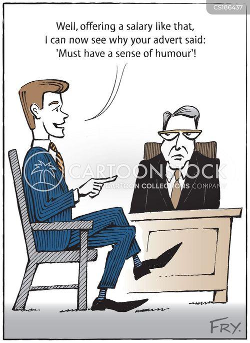 job ads cartoon