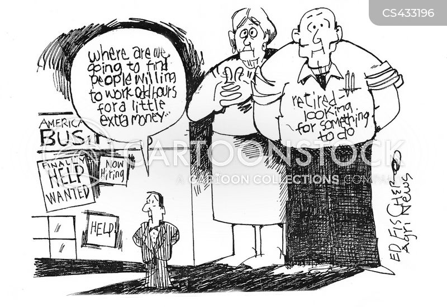 part time jobs cartoon