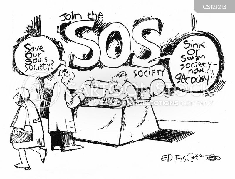 sos cartoon