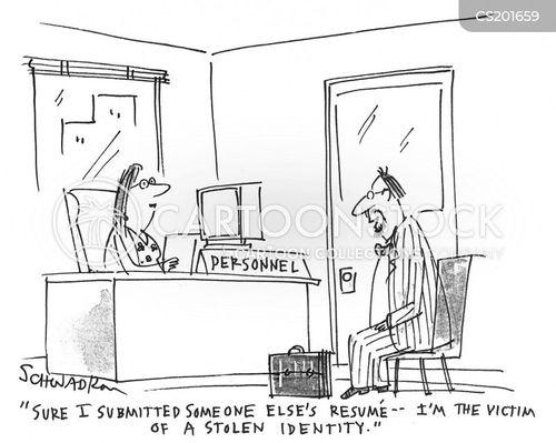 stolen identity cartoon