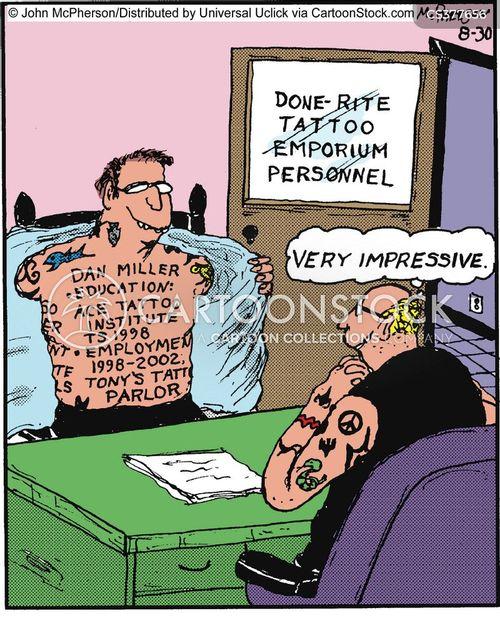 pierced cartoon
