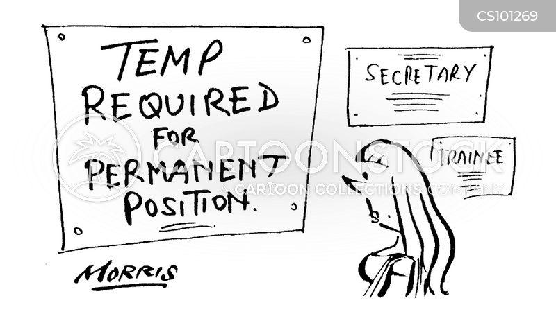 temping cartoon