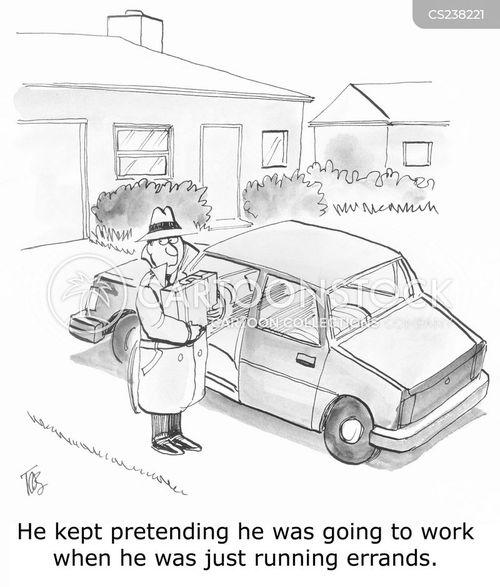 running errands cartoon