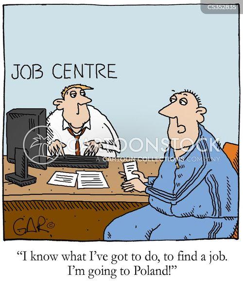 job agency cartoon