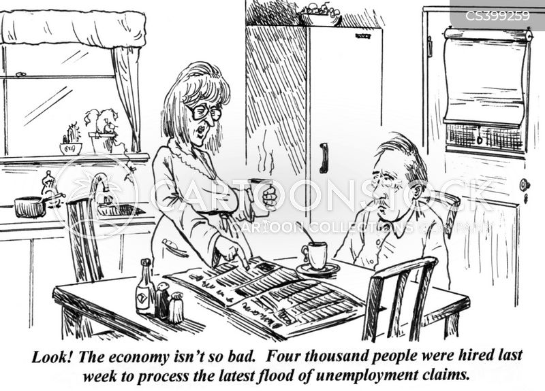 unemployment claims cartoon
