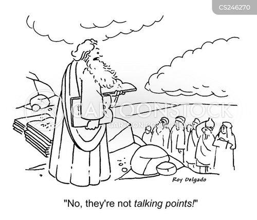 talking point cartoon