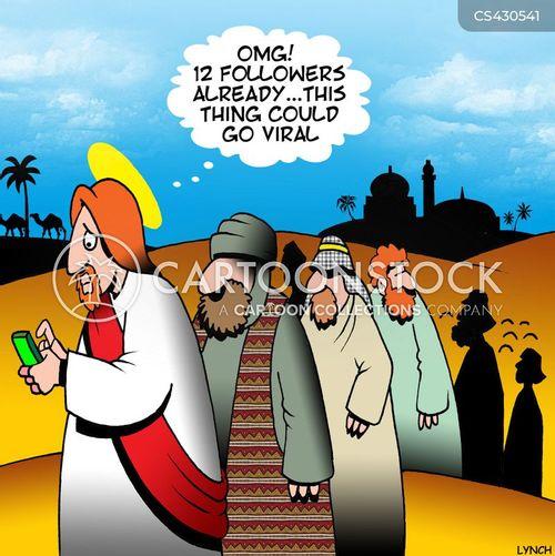 12 disciples cartoon