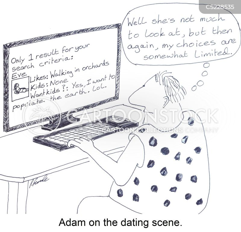 dating scenes cartoon
