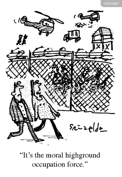 moral highground cartoon