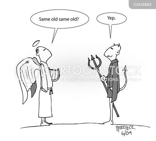 religious figure cartoon