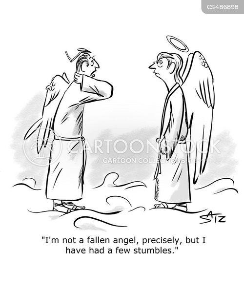 stumbling cartoon