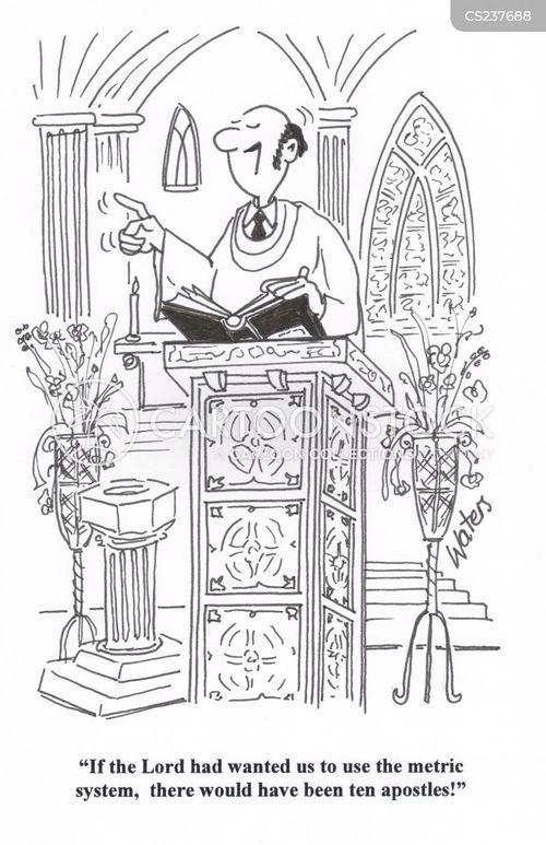 religious service cartoon
