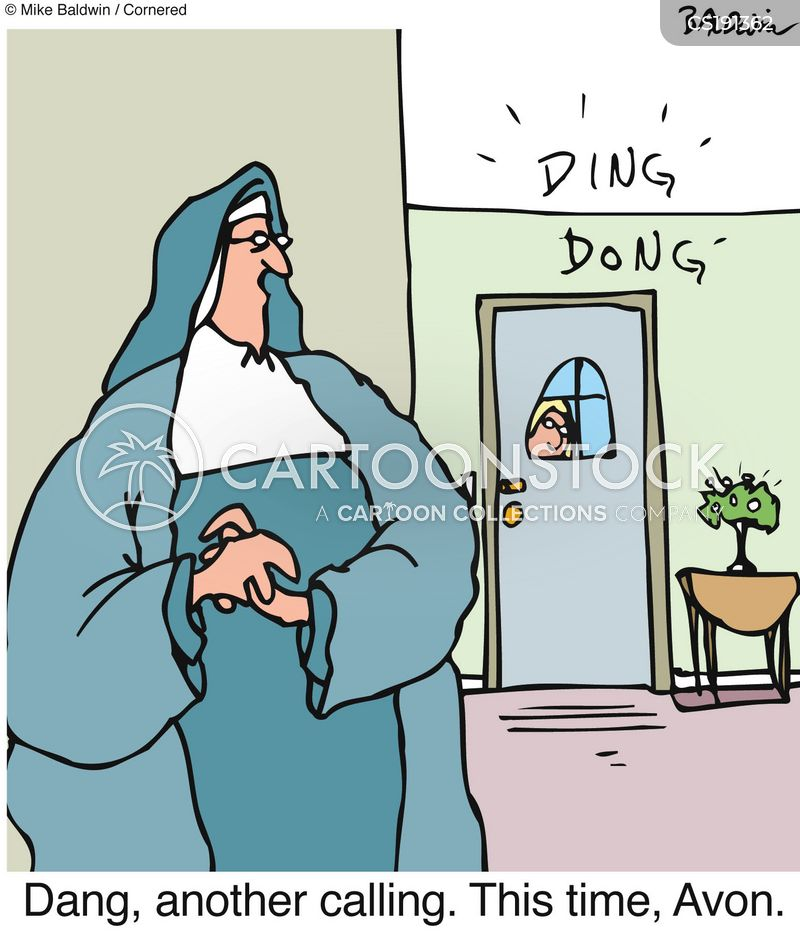 nun cartoon