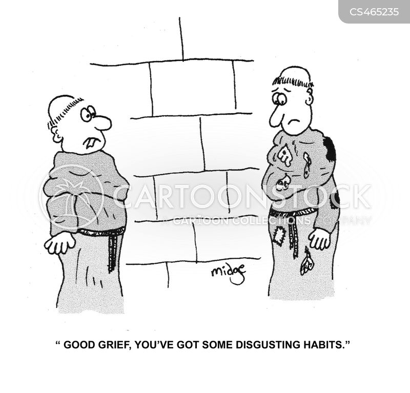 disgusting habits cartoon
