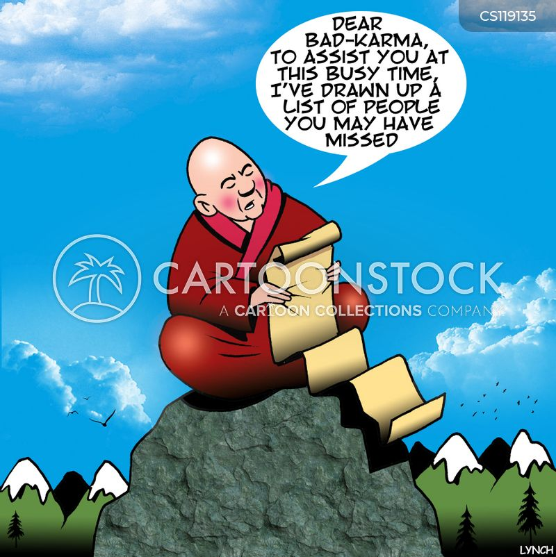 buddhist monks cartoon