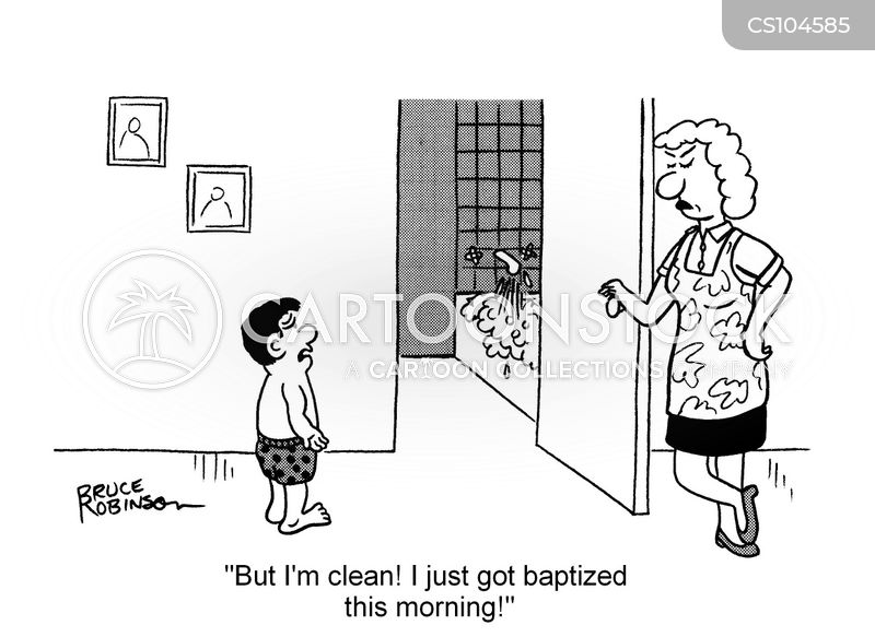 baptise cartoon