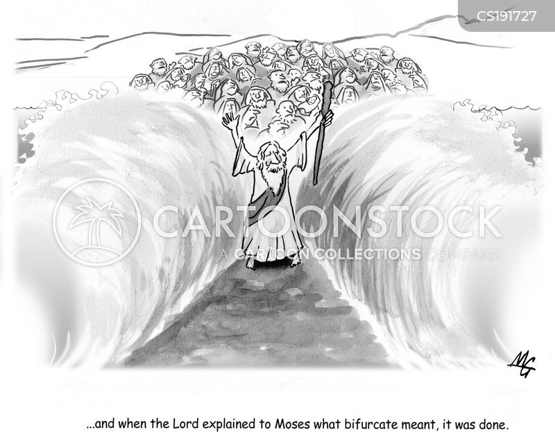 parting the red sea cartoon