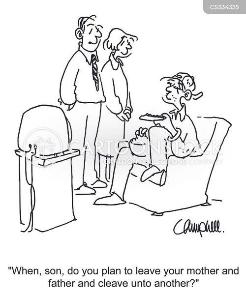 family lives cartoon