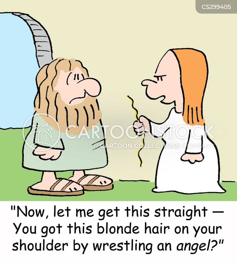 blonde hair cartoon