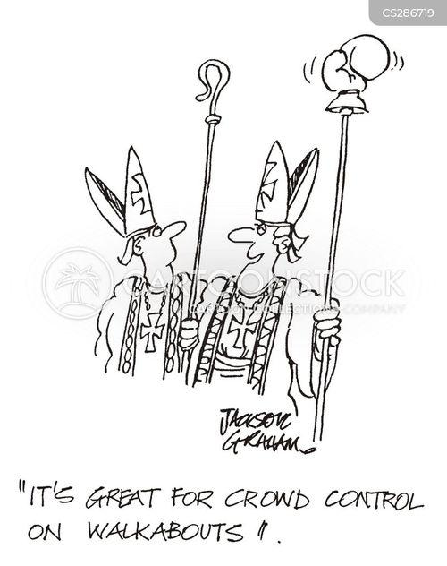 crowd control cartoon