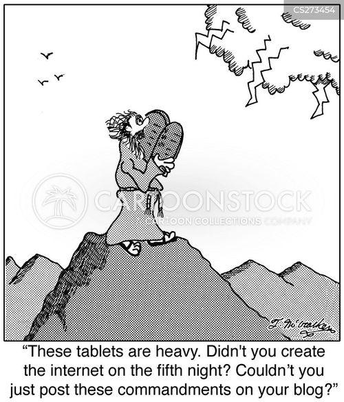 web post cartoon