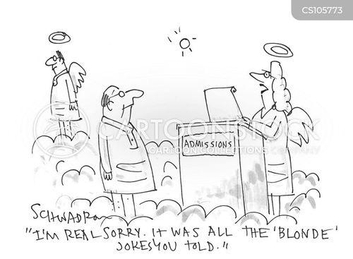 blonde jokes cartoon