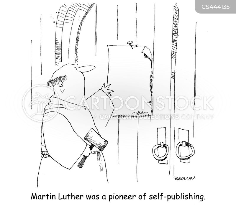 martin luther cartoon