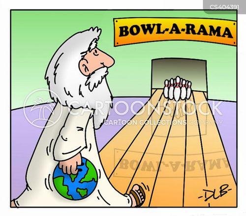 tenpin bowling cartoon