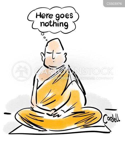 meditator cartoon