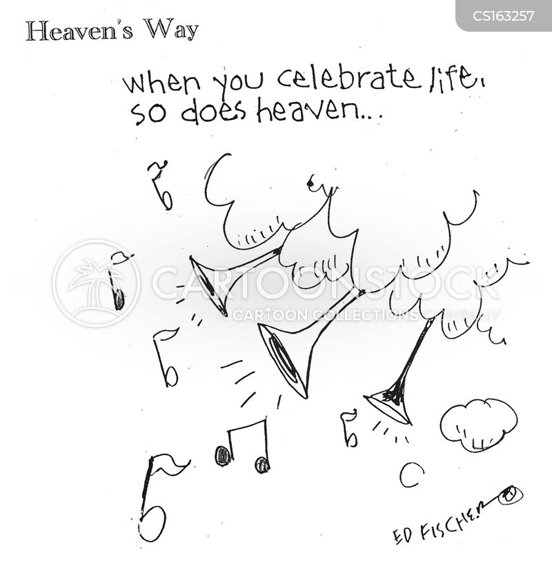 heavenly choir cartoon
