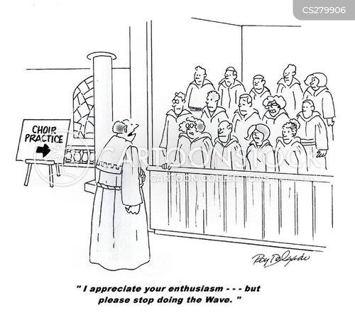 choir masters cartoon