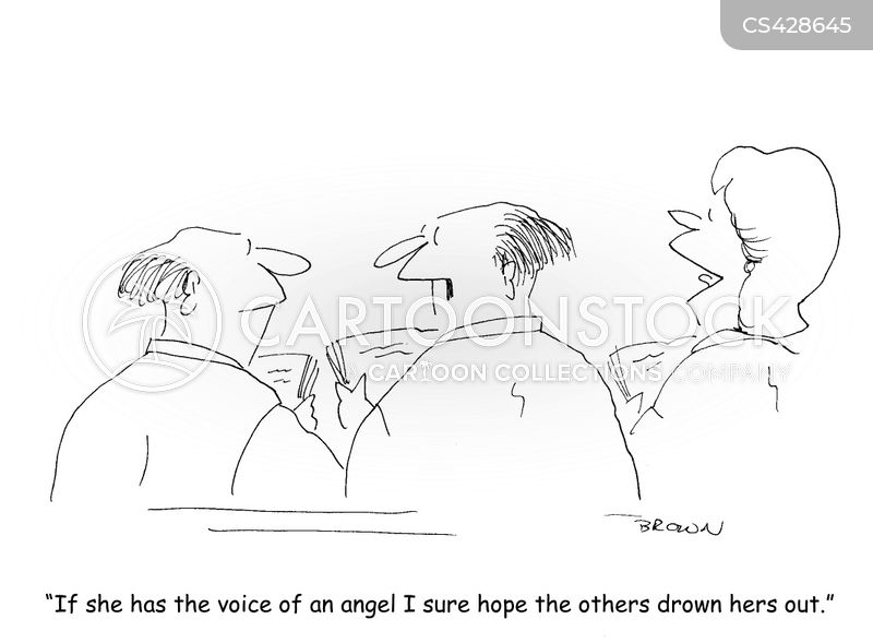 angelic choirs cartoon