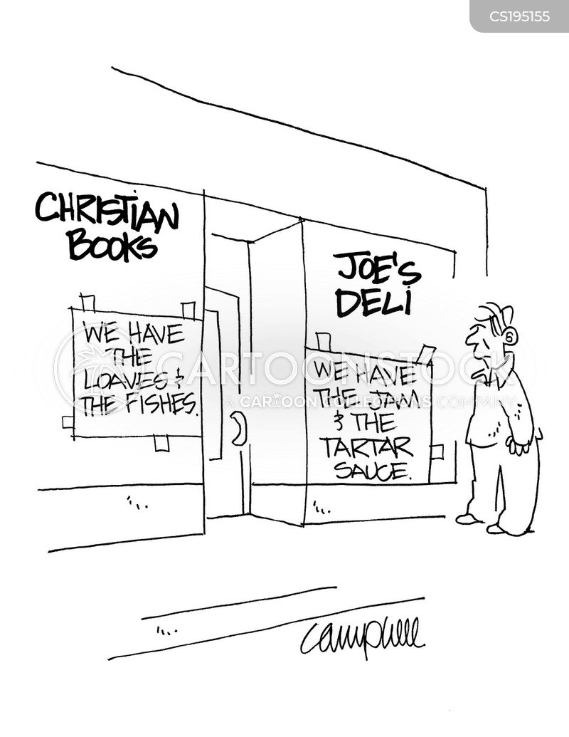 christian books cartoon