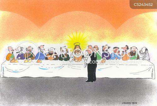 the last supper cartoon