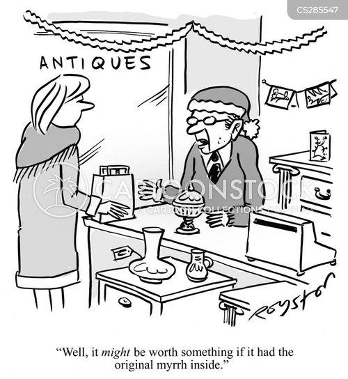 antiques dealer cartoon