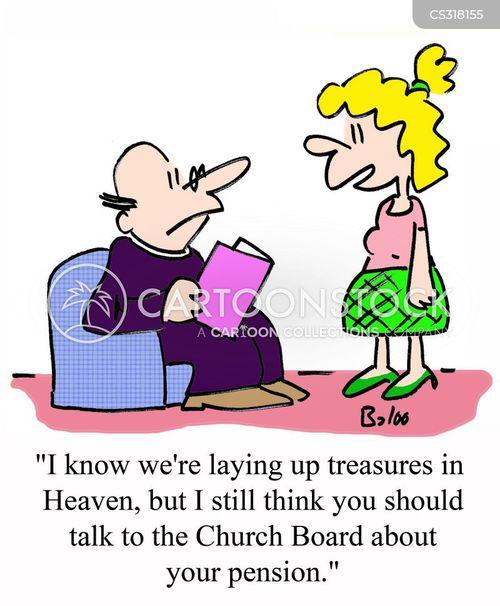 church boards cartoon