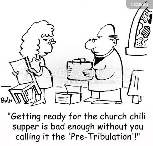 church supper cartoon