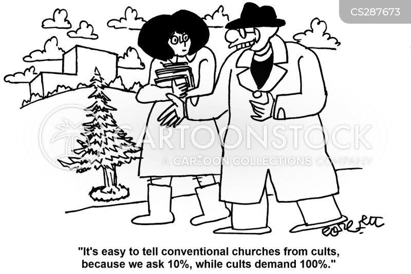 organised religions cartoon