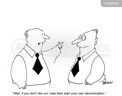 denomination cartoon