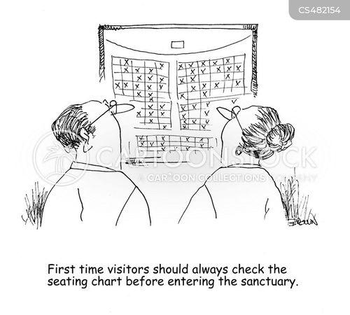 seating charts cartoon