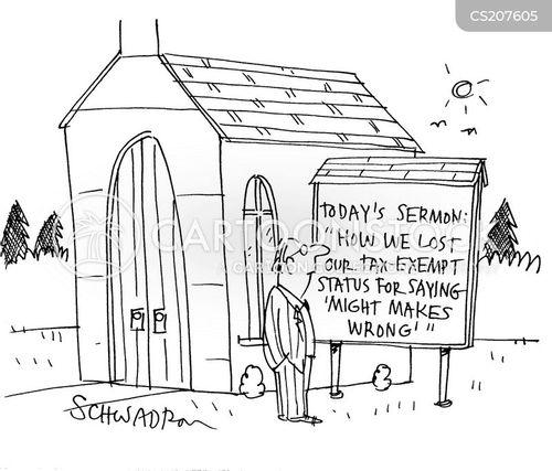 tax-exempt status cartoon