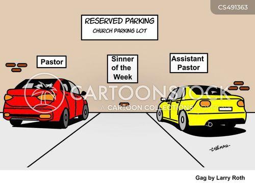 reserved parking cartoon