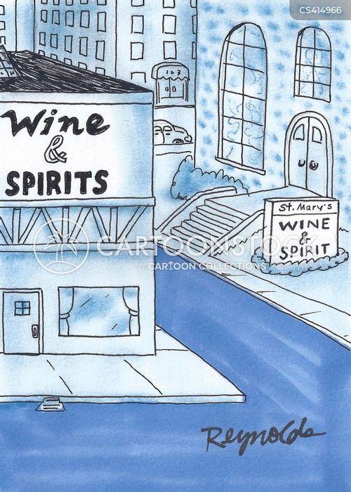christian rituals cartoon