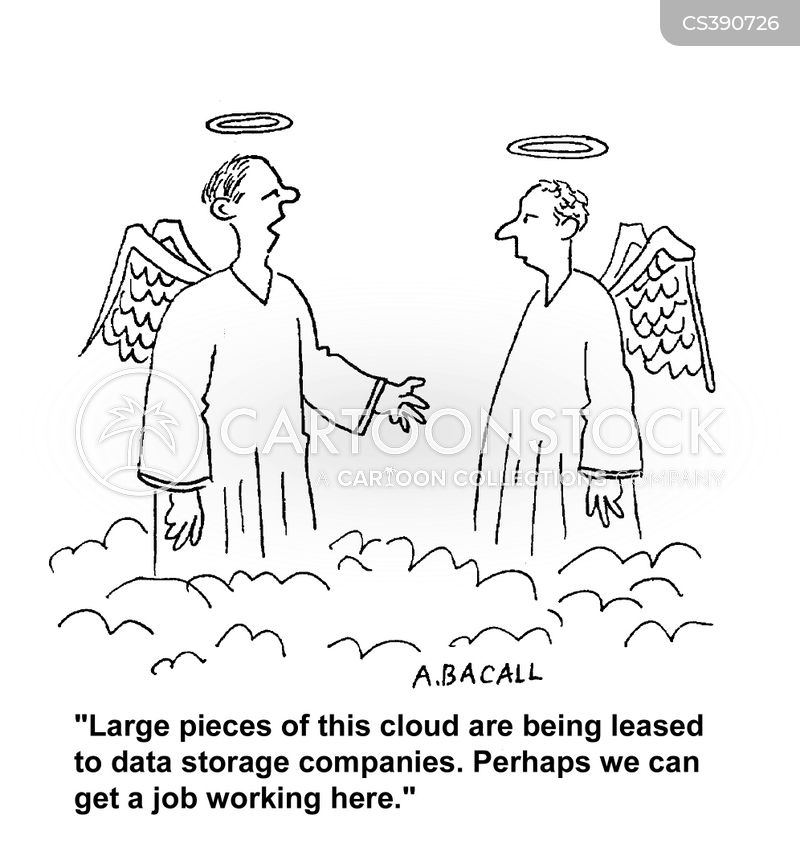 data storages cartoon
