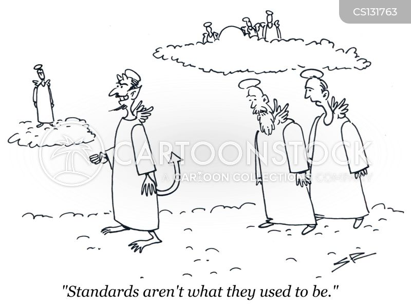Image result for falling standards cartoon